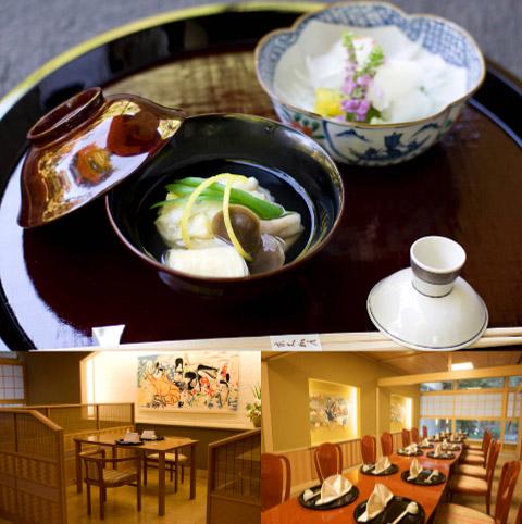 本格京懐石と個性豊かな個室